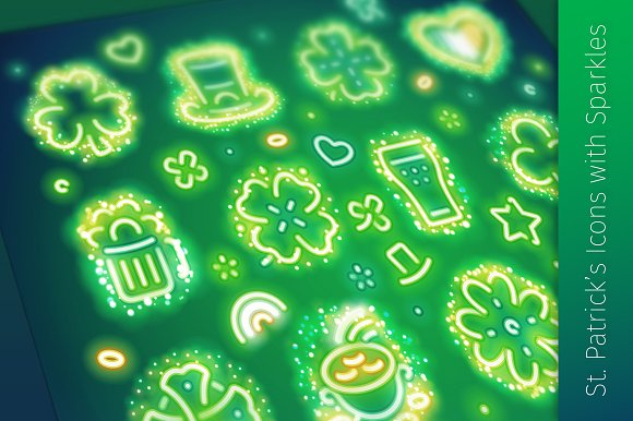 St. Patrick's Icons with Sparkles