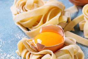 homemade pasta tagliatelle