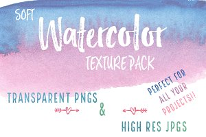 Soft Watercolor Texture Pack