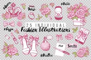 25 Romantic Fashion Illustrations