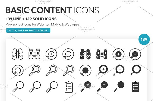 Basic Content Icons in Icons