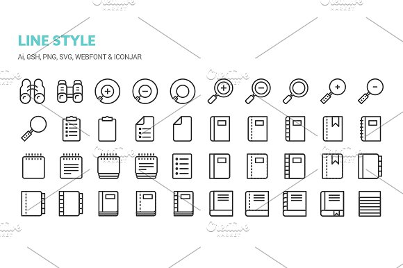 Basic Content Icons in Icons - product preview 1