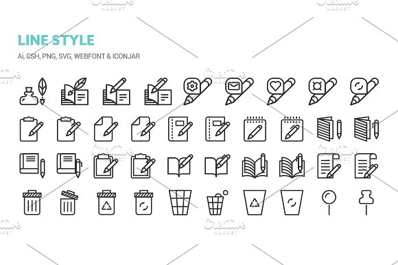 Basic Content Icons in Icons - product preview 5