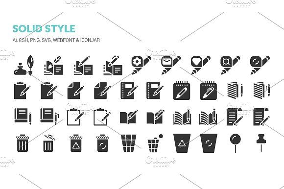Basic Content Icons in Icons - product preview 6