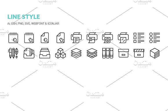 Basic Content Icons in Icons - product preview 7