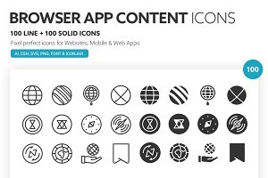 Browser App Content Icons