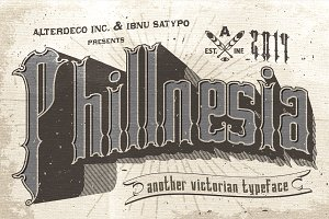 Phillnesia Typeface