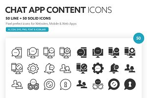 Chat App Content Icons