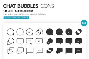 Chat Bubbles Icons