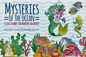 Mysteries of the ocean Watercolor
