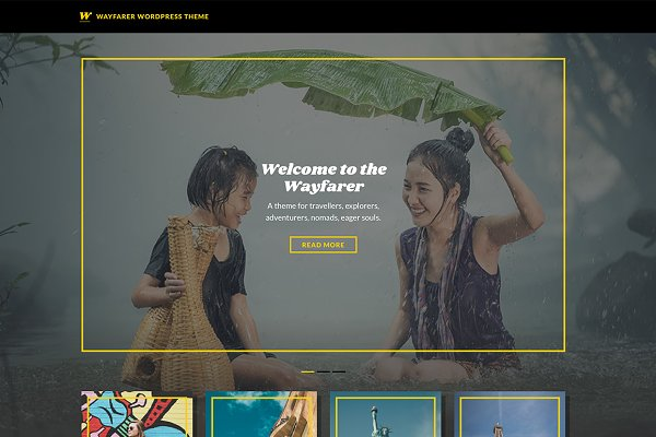 WordPress Magazine Themes: Theme Junkie - Wayfarer WordPress Theme