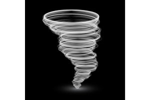 abstract white tornado