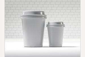 Disposable coffee cup isolated.