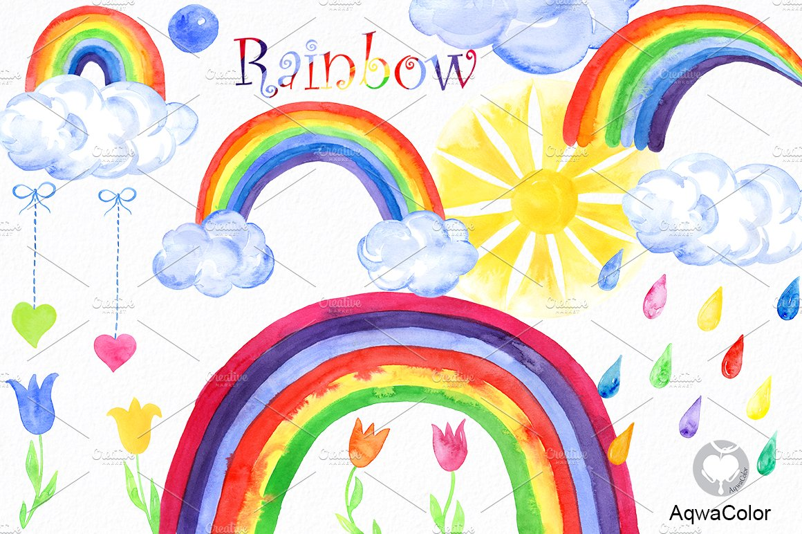 rainbow illustrations and clipart - photo #28