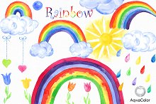 Rainbow Watercolor clipart