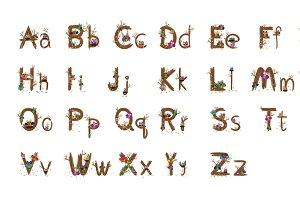 A-Z Owl letter Design Vector