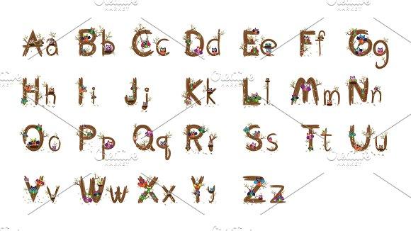 a z owl letter design vector symbol fonts creative market