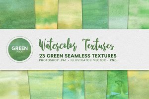 Watercolor Seamless Textures Green