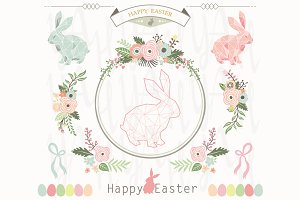 Floral Geometric Easter Collections