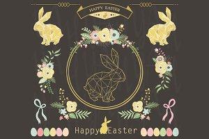 Chalkboard Floral Easter