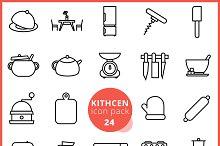 Kitchen icon pack 24