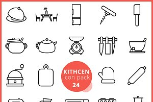 Kitchen icon pack 24
