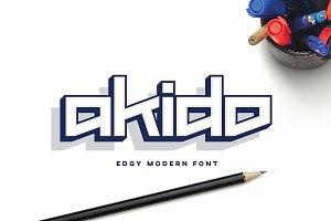 Akido Edgy Modern Logo Font Logotype