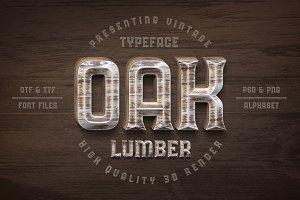 Oak Lumber Font