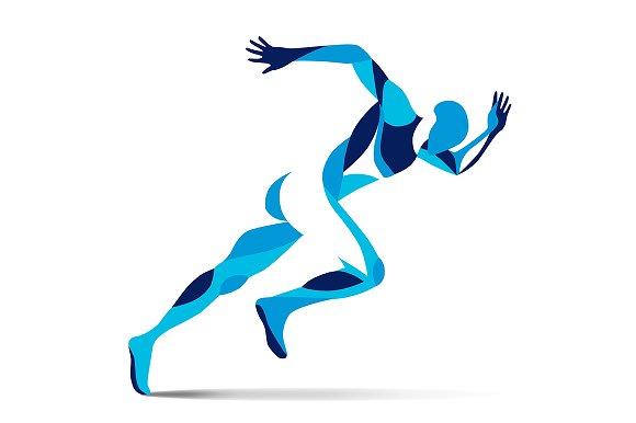 Stylized Running Man