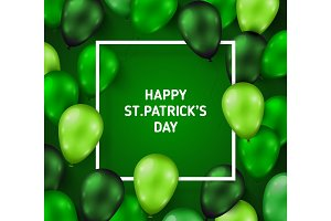 Saint Patrick's Day Poster with Balloons