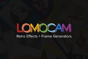 Lomocam: 58 RetroFX & Frames Actions