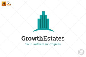 Growth Real Estate Logo Template