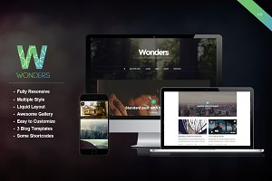 Wonders - An Elegant Blog Theme