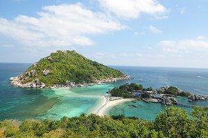 View ofKoh Nang Yuan in Thailand
