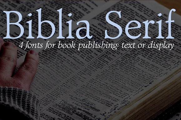 Biblia Serif For Book Production
