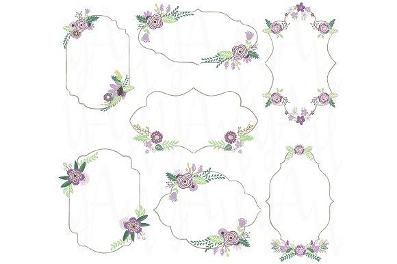 Vintage Floral Frame Illustrations Creative Market