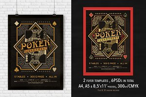 2 Poker Magazine Ad, Poster or Flyer