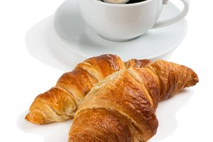 Croissants and cup of coffee