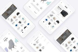 Chair Shopping App - PSD