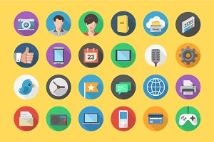 Flat Multimedia Icon Set
