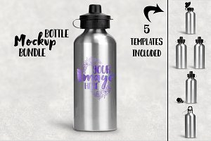 Stainless Steel Bottle Mockup