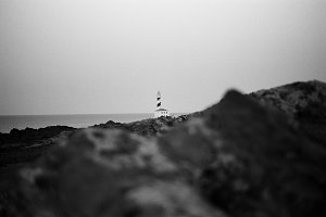Lighthouse B & W Photography