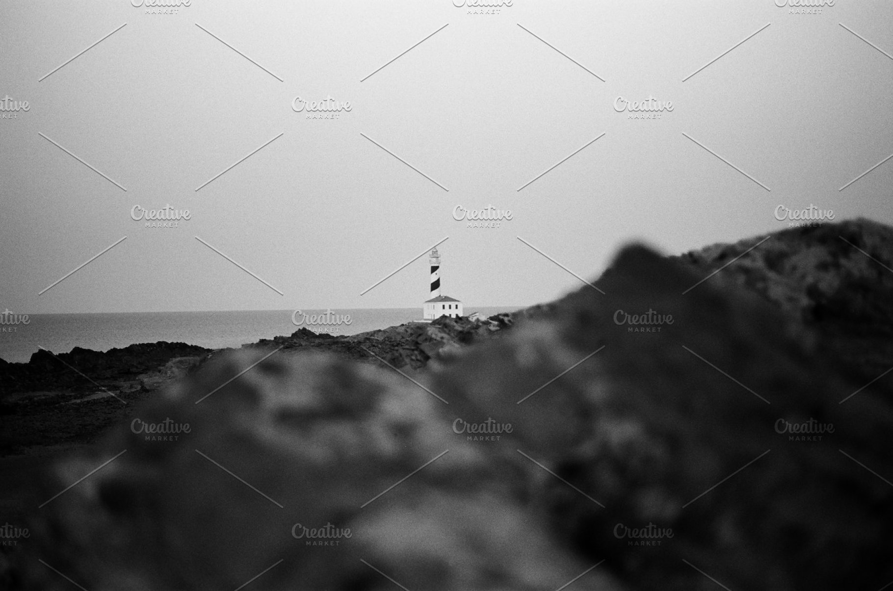 Lighthouse b w photography