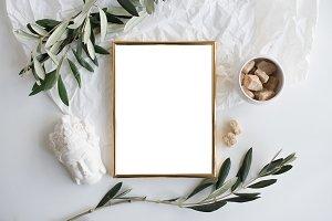 Golden frame mockup