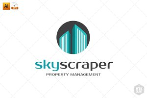 Skyscraper Real Estate Logo Template