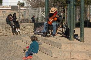 Street musician-guitarist
