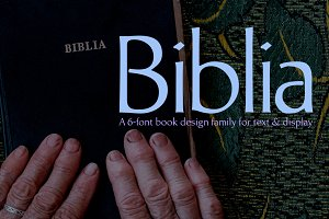 Biblia, a modulated humanist sans