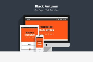 Black Autumn - One Page Template