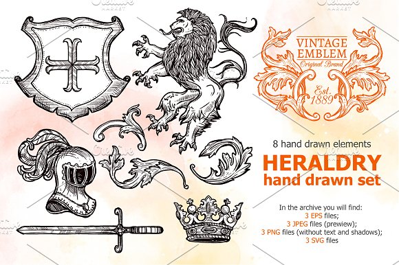 Heraldry Sketch Set