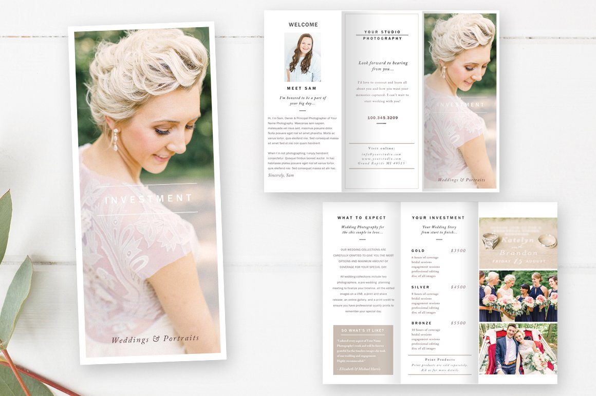 Wedding photography brochure brochure templates for Wedding photography brochure template